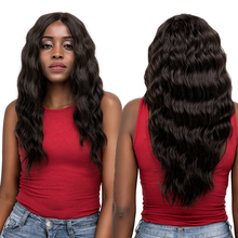 Black Blonde Red Synthetic Lace Front Wigs Long Deep Wavy Middle Part