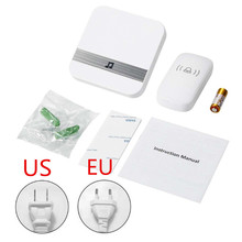 Wireless Doorbell Rings Touch-Button Remote-Distance EU 300M AC 90-260V 52 Levels Volume