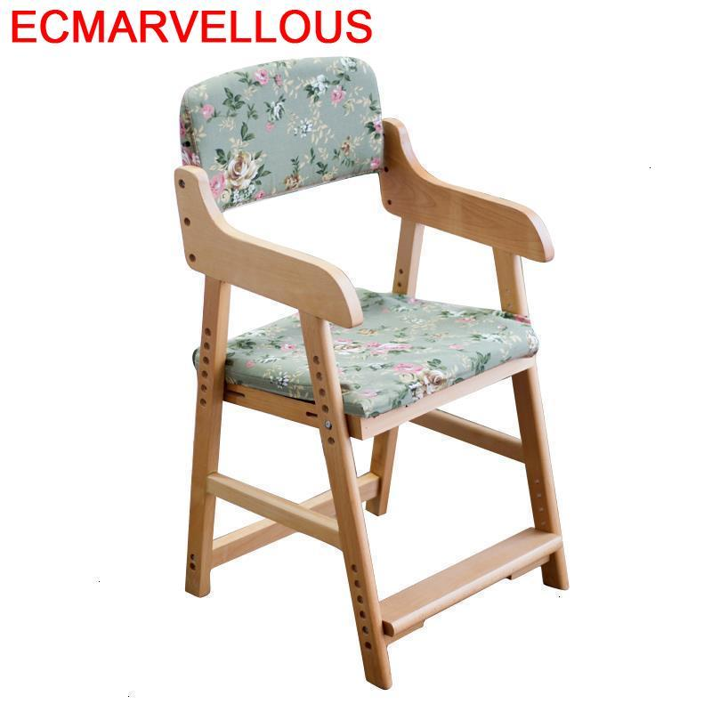 Madera Table Dinette Learning Tower Study Silla Estudio Wood Baby Kids Furniture Adjustable Chaise Enfant Children Chair
