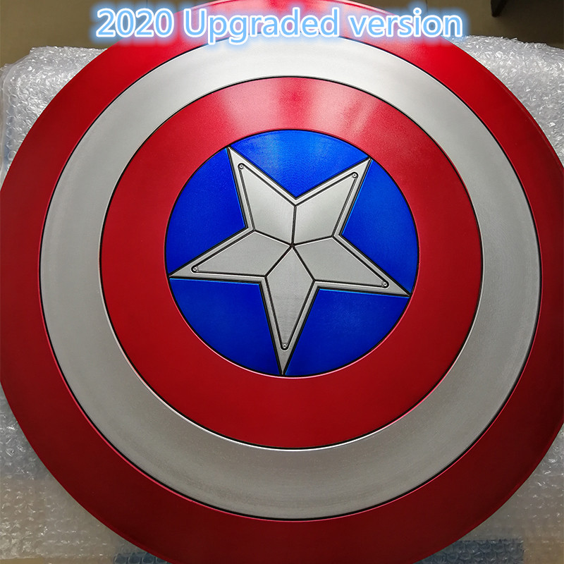 Marvel Captain America Shield 1:1 ABS Shield 57cm Cosplay Halloween Gift Props