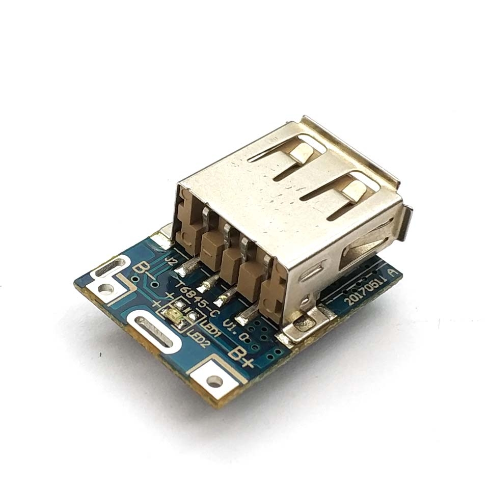 5V Step-Up Power Module Lithium Battery Charging Protection Board Boost Converter LED Display USB For DIY Charger 134N3P