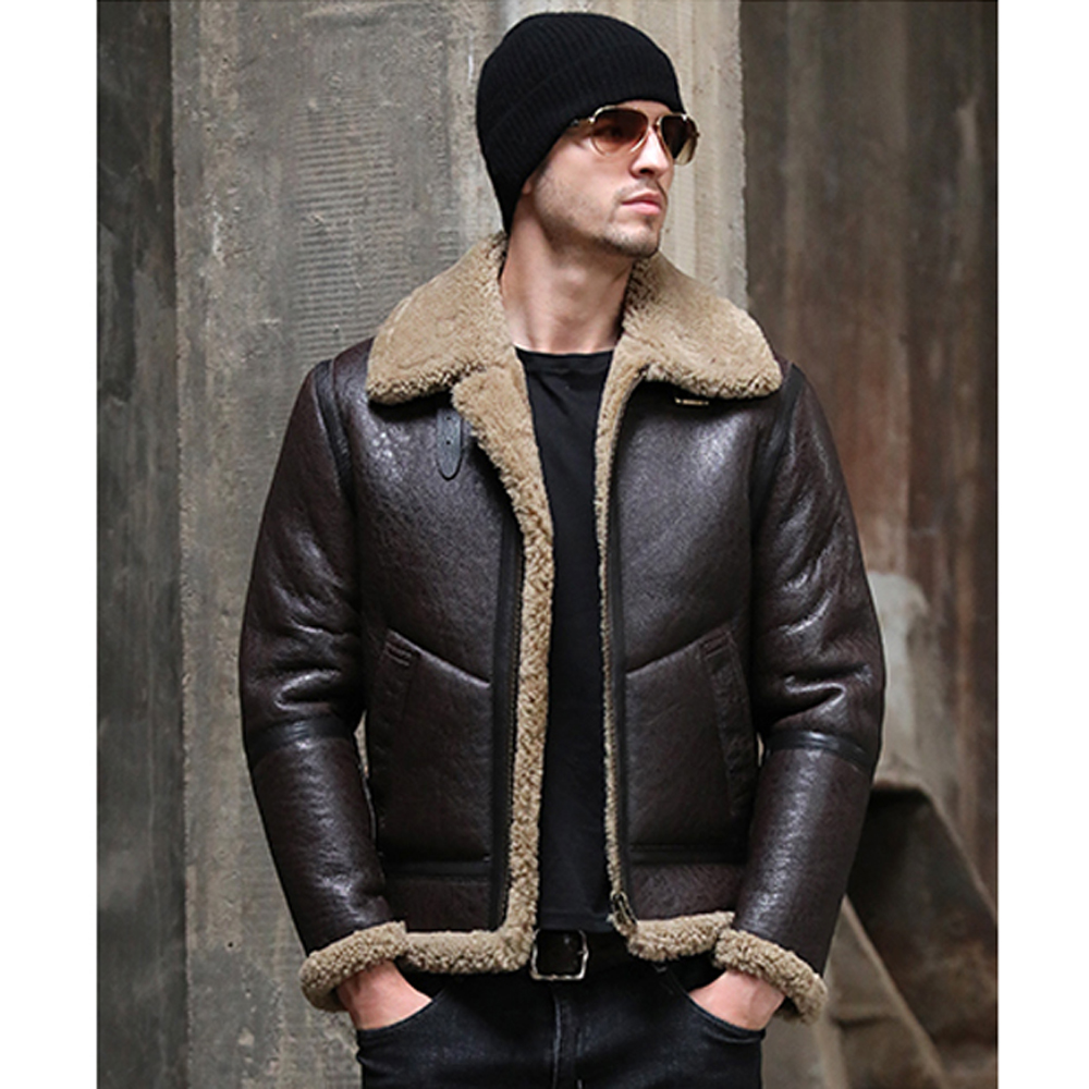 Thick Turn Down Collar 7xl Men Winter Real Sheepskin Fur Coat Black Genuine Leather Fur Clothing Natural Sheepskin Fur Outwear