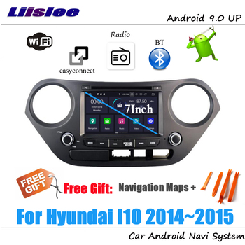 Liislee Android 9 4+32G For Hyundai I10 2014~2015 Stereo Car Radio Video Carplay GPS Navi Map Navigation System Multimedia