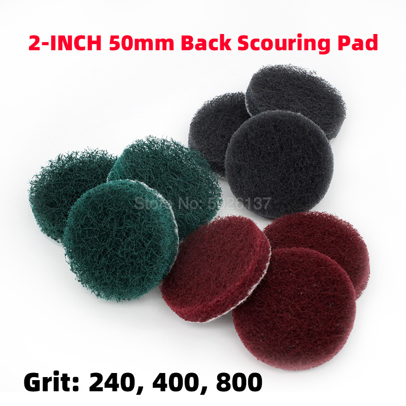 1Pcs 2-Inch 50MM Non-woven Abrasive Sanding Disc Back Rust Removal Dusting Pile Cleaning Brush Scrub Pads Scouring Pad