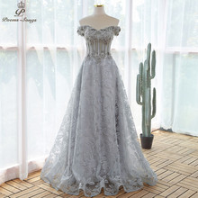 Elegant sequin lace gray flowers Evening dress 2021 prom dresses evening gowns vestidos de fiesta robe de soirée de mariage