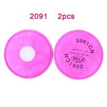 Respirador con filtro de partículas para mascarilla 3M 2097/2091/6200, accesorios manuales de bricolaje, 2 uds., 6800/7502