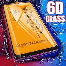 6D Glas Voor Xiaomi Redmi Note 7 6 Pro 5 4X Screen Protector Redmi Note 7 7A Gehard Glas Voor xiaomi CC9 Mi 9 Se 8 A2 Lite A3
