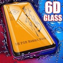 6D Glass for Xiaomi Redmi Note 7 6 Pro 5 4X Screen Protector Redmi Note 7 7A Tempered Glass for Xiaomi CC9 Mi 9 SE 8 A2 Lite A3