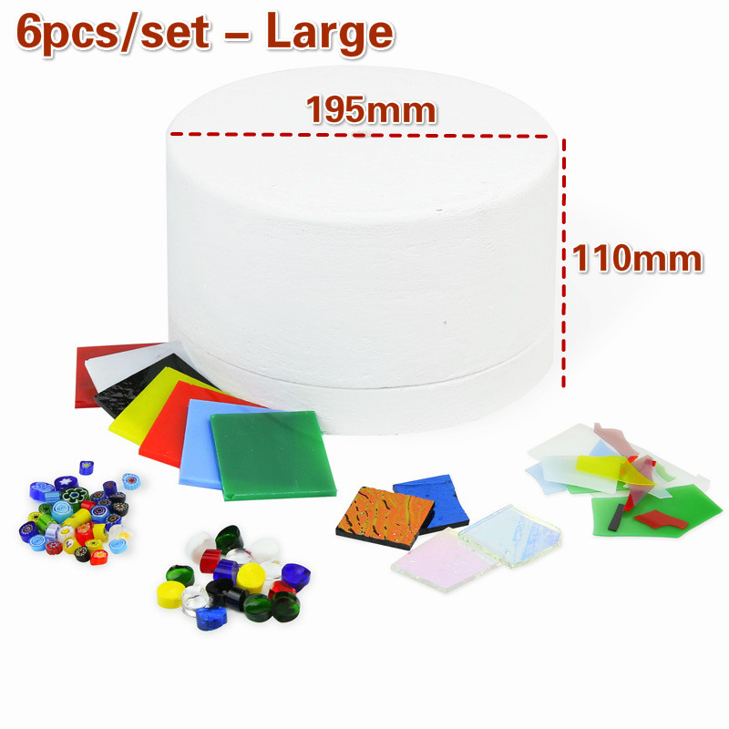 1 6 10pcs set Professional Microwave Kiln Kit Tool Set Stained Glass Fusing Supplies DIY Kit Ceramic Accessories Supplies