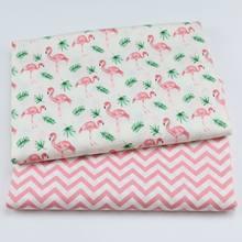 Flamingo impressão tecido sarja de algodão, artesanato têxtil, patchwork, costura, dormitório gordo, quatro estações, folha projetada para bebê & criança
