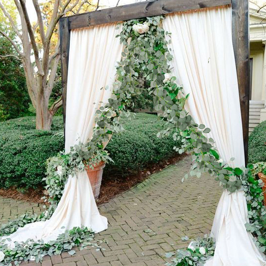 2m Artificial Eucalyptus Greenery Fake Leaves Vines Rattan Simulations Wedding Party Hanging Garland Ivy Wreath Wall Decor