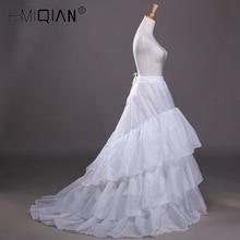 Свадебная Нижняя юбка Jupon со шлейфом кринолин скольжения Нижняя юбка для А-силуэта свадебное платье, 3 слоя свадебный кринолин