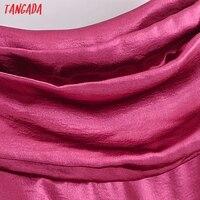 Tangada Women's Party Dress Satin Midi Dress Strap Adjust Sleeveless 2021 Fashion Lady Elegant Dresses QN42 3