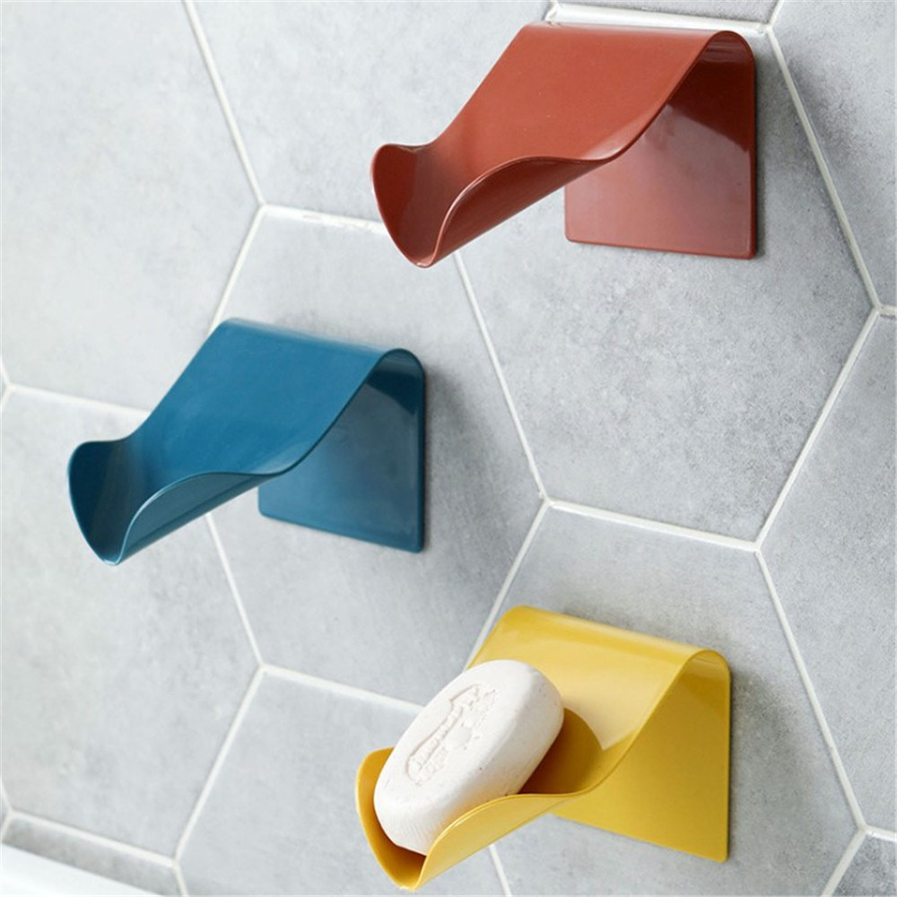 Soap Dishes Drain Sponge Holder Bathroom Organizer Wall Mounted Storage Rack Soap Box Bathroom Products Portable Soap Dishes