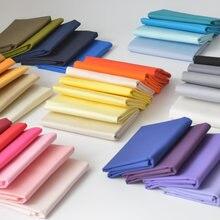145x50cm cor sólida popelina tecido de algodão diy crianças usar pano fazer cama colcha tecido para menina vestido 160-180 g/m