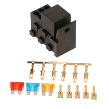 4-Slot Relay Box [1 Relays] [3 Blade Fuses] [Easy Installation] - Fuse Relay Box for Automo