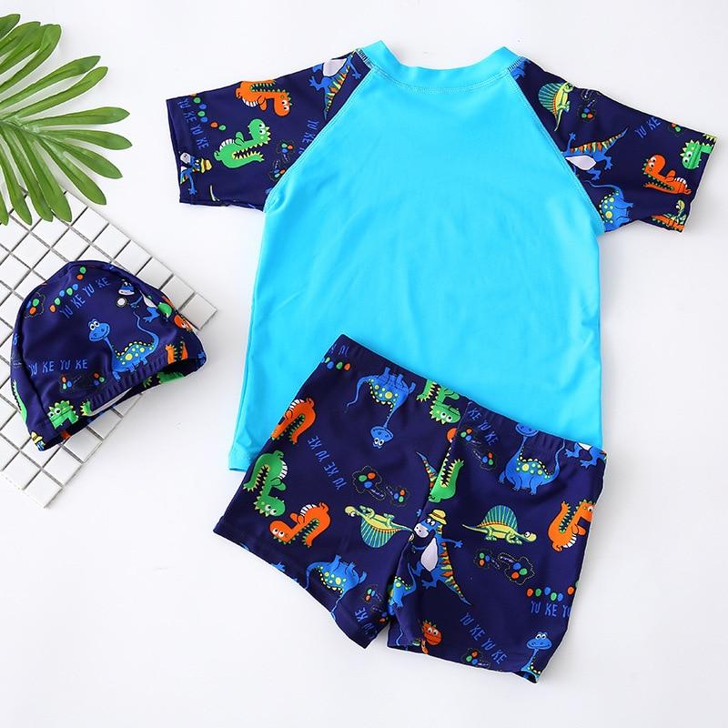 KID'S Swimwear BOY'S Big Boy Baby Split Type Kids Boy Swimsuit Set Swimming Trunks Swimwear With Cap