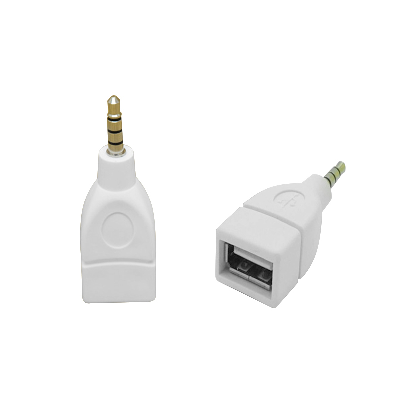 Female Converter Aux Cable Auto Audio Adapter Converter USB  To 3.5mm Male AUX Audio For Vehicle Navigation Vehicular Audio