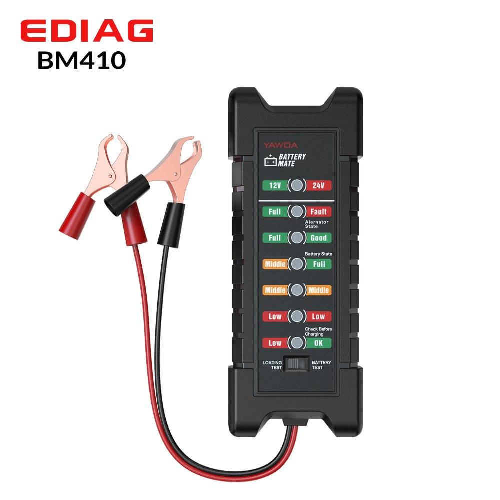5 stücke Ediag 4in1 Auto Batterie Tester BM410 Unterstützung 12V 24V Motorrad Digitale Batterie Analyzer Automotive Scanner Auto diagnose