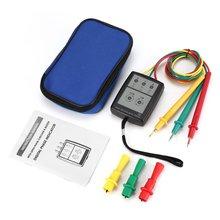 цена на SP8030 3 Phase Rotation Tester Digital Phase Indicator Detector LED Buzzer Phase Sequence Meter Voltage Tester 200V-480V AC