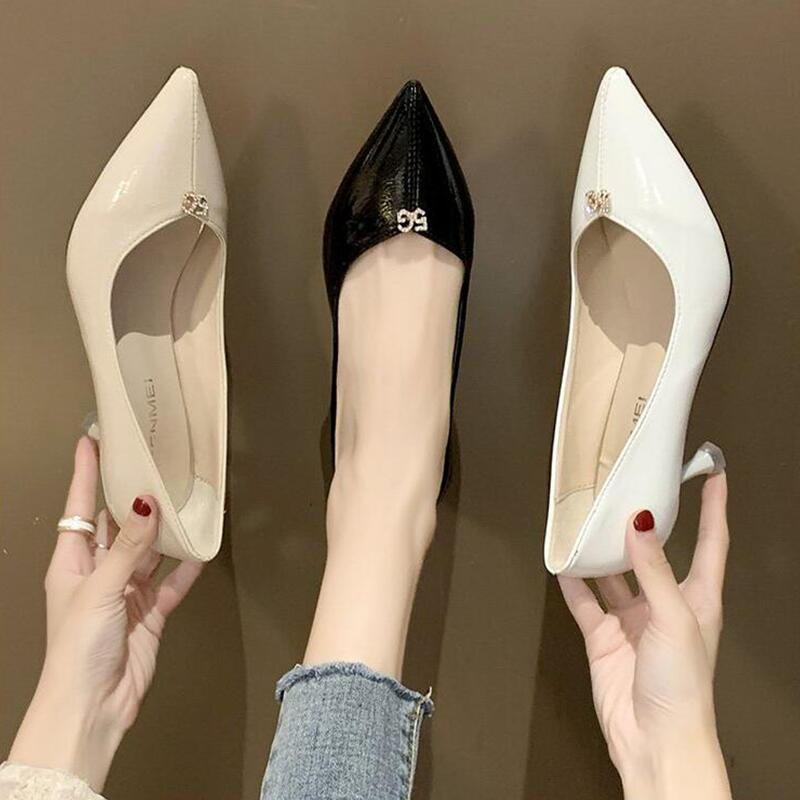 Shoes High Heels Women High Heels PU Thin High Heels Ladies Shoes Pointed Toe Sex Party Women High Heels Spring New Fashion 2020