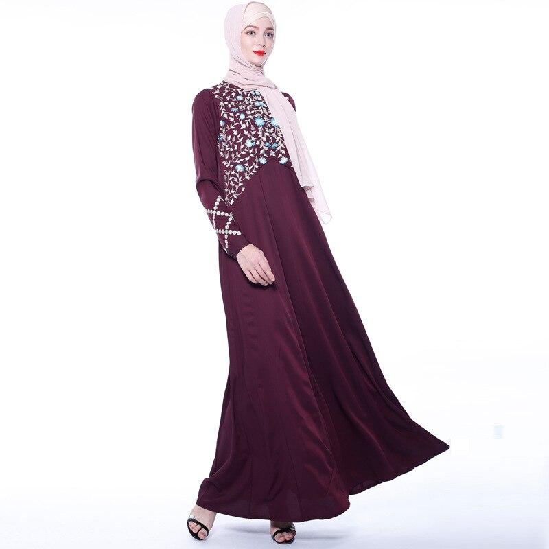 Abayas for Women Islam Caftan Marocain Dresses Vestidos European Clothing Kaftan Dubai Abaya Turkey Muslim Femme Musulmane 2