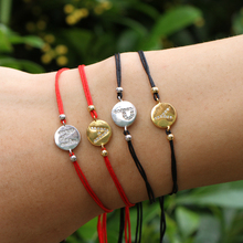 Bracelet String-Rope Line Good Black Fashion Fate Weaving Letter Lucky-Thread of