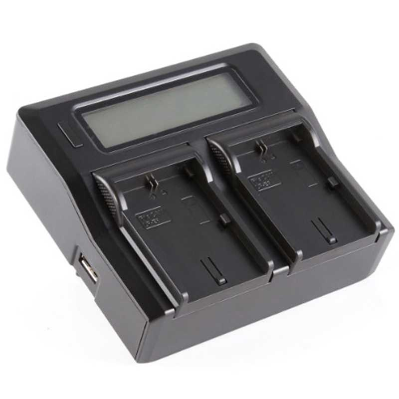 Camera Battery Charger Dual Channel LCD Display Baterai Cepat Charger untuk Sony Np-Fp70 Fp90 Np-Fv50 Np-Fv60 Np-Fv70 Np-Fv100 SER