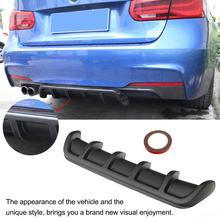 Universal Car Rear Bumper Lip Spoiler Car-Styling ABS Shark Fin Style Curved Diffuser Tuning
