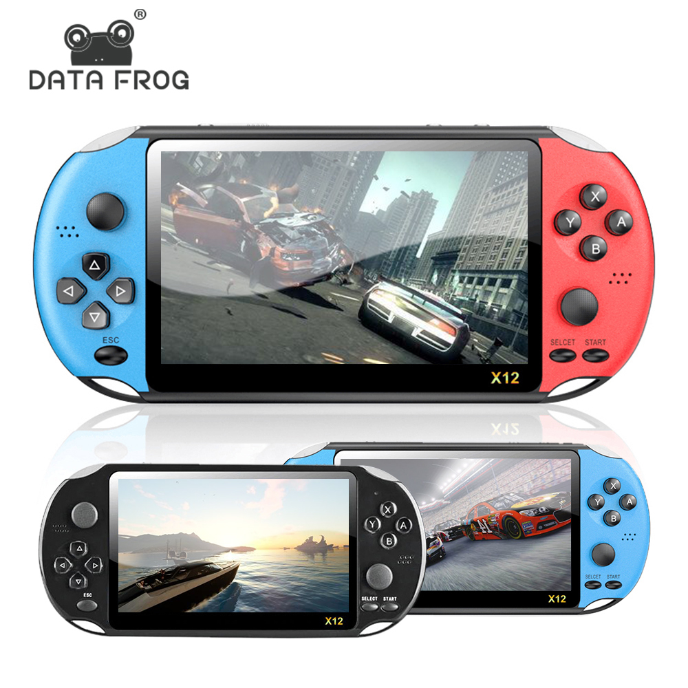 DATA FROG 8GB Memory Handheld Retro Game Player 5.0 Inch Video Game Console Support TV Out Put With MP3 Camera For NES/GBAGame