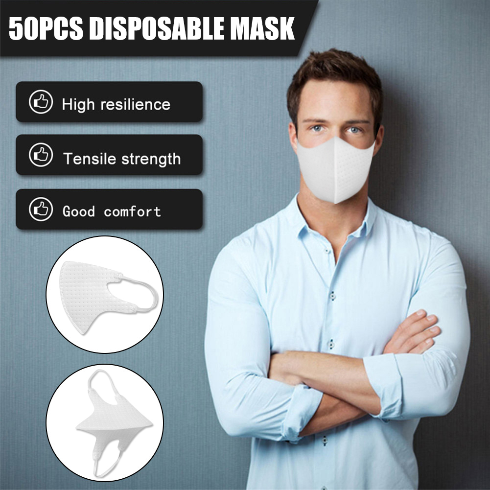 50pcs Masks Disposable Cycling Face Mask Dust-proof for fog /dirt/debris Mouth Mask VDX