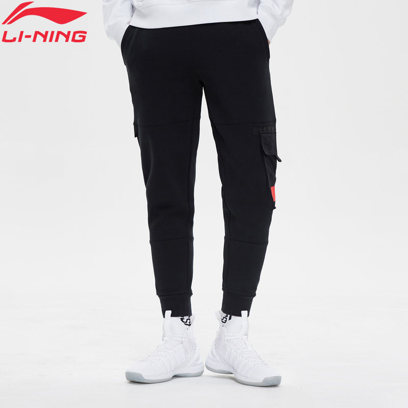(Clearance)Li-Ning Men The Trend Sweat Pants Comfort Regular Fit 66% Cotton 34% Polyester LiNing Sports Pants AKLP015 MKY468