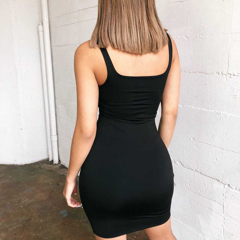 Mini Bodycon Vrouwen Zomer Mode Jurk Backless Sexy Wrap Neon Mouwloze Jurk Jurk Dames Club Party