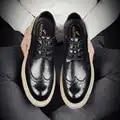 Zapatos de vestir para hombres de negocios clásicos zapatos de boda formales elegantes de moda zapatos de hombre deslizantes en Oxford de oficina para hombres negro