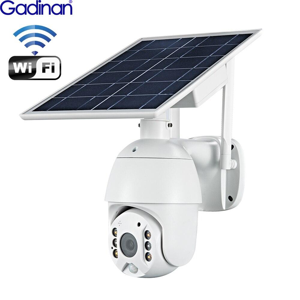 Gadinan Panel słoneczny kamera Wifi wersja PTZ 4X 1080P bezpieczeństwo zewnętrzne bezprzewodowy Monitor wodoodporny CCTV inteligentny nadzór domowy
