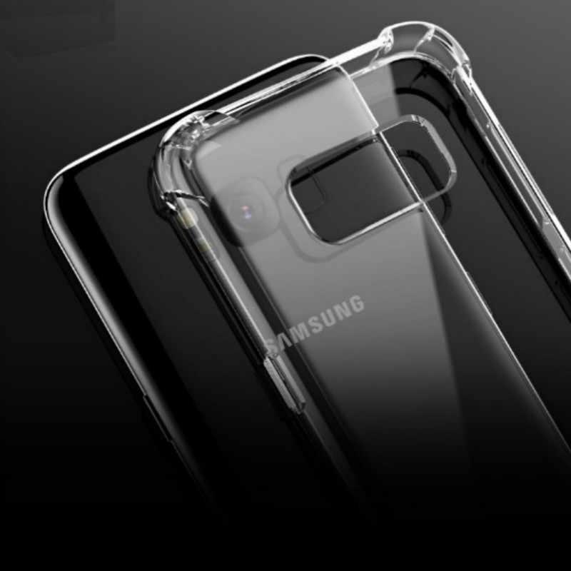 À prova de choque Armadura de Silicone Caso Claro Macio Para Samsung Galxay A6 A8 Plus A5 A7 J2 Pro 2018 J3 J5 J7 A3 J1 2016 2017 Tampa Traseira
