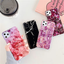 For iphone Xs Max Marble Case on For Coque iphone 11 Pro Max Case Soft TPU Back Cover For iphone X XR 6 6S 7 8 Plus Phone Case(China)