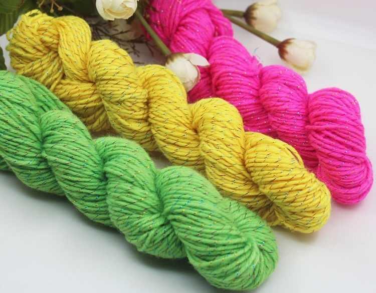 44 kleur 50g Hoge Kwaliteit Gehaakte Wol Breien Handgemaakte Sjaal Trui Garen Goud Lijn Garen Acryl Vezels Thuis Scarfes
