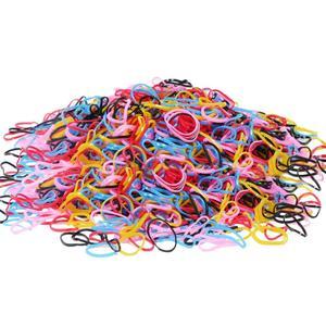 Image 5 - 200/1000PCS น่ารักเด็กผู้หญิงที่มีสีสันแหวนทิ้งผมยืดผมผู้ถือหางม้ายาง Band Scrunchies เด็กอุปกรณ์เสริมผม