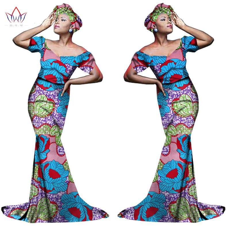 Африканский хлопчатобумажный материал Платья Для Женщин Дашики традиционная Анкара Мода Африка одежда с коротким рукавом Анкара платья WY963 - Цвет: 21