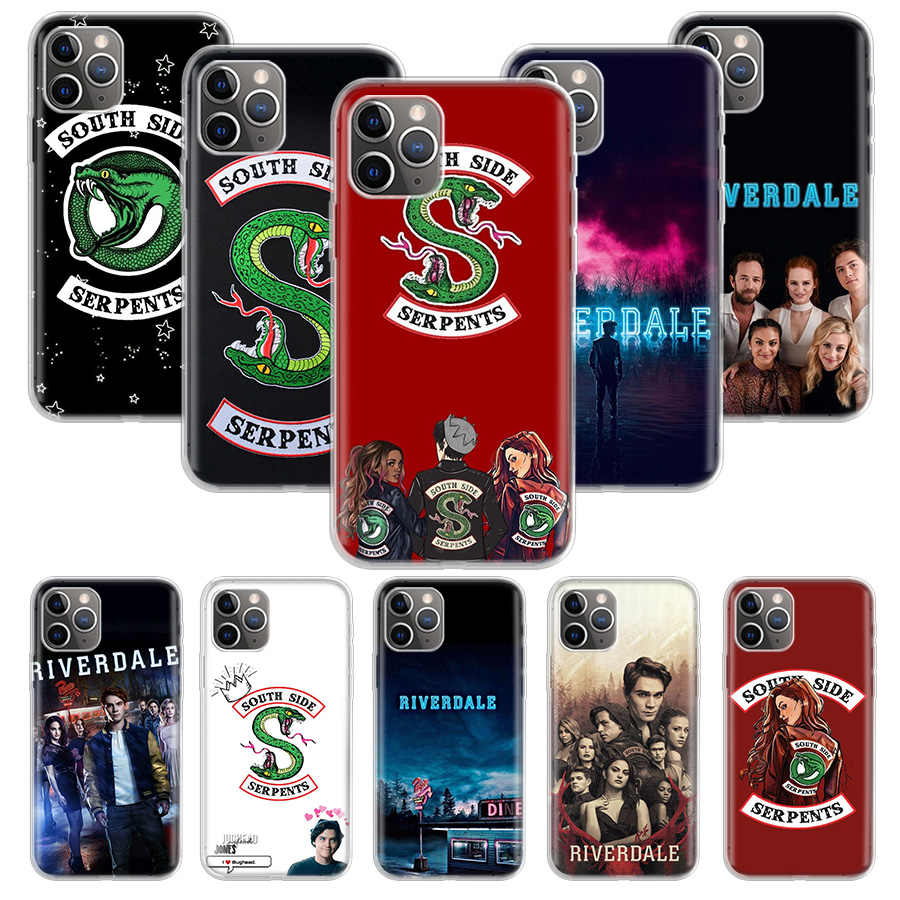 Tv Riverdale Cetak Case untuk Apple Iphone 11 Pro Xs Max Xr X 7 8 6 6S Plus 5 5S SE 10 Sepuluh Hadiah Silicone Phone Cover Coque
