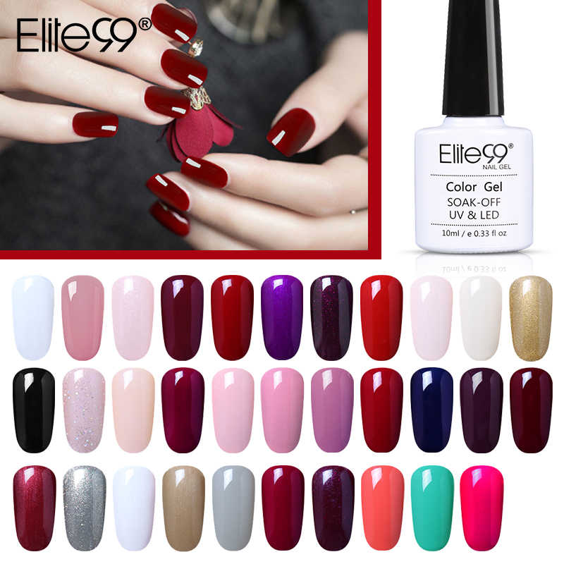 Elite99 Gel Polish Wit Manicure Primer Gel Varnish Soak Off Uv Led Gel Nagellak Base Coat Geen Veeg Top kleur Gel Polish