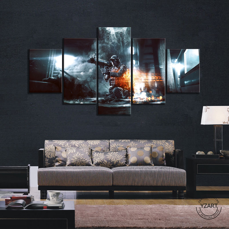HD Drawing Painting Art Pubg Playerunknowns Battlegrounds Explosion Game Poster Pictures for Wall Decor 2