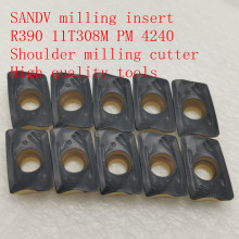 R0.8 SANDV high quality milling insert R390 11T308M PM 4240 carbide tool, shoulder cutter CNC tool