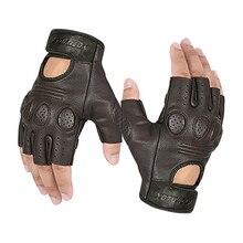 Gants de Moto en cuir de mouton pour hommes et femmes, gants de Motocross, de Moto, de conduite, de Guantes, été/hiver