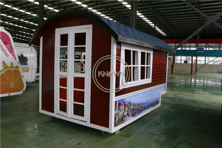 2020 New Style Mobile Cottage Selling Newspaper Cigarette Kiosk Street Snack Cart Mall Rest Area Independent Small House