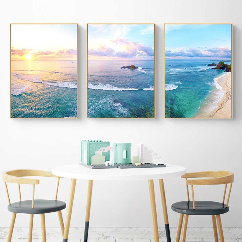 Beautiful View Seascape Canvas Painting Amore Wall Pictures For Living Room Nordic Decoration Home Art