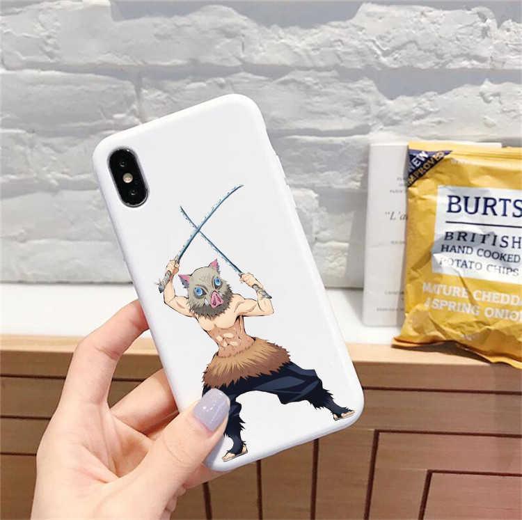 Kamado Nezuko Kimetsu Không Yaiba Demon Slayer TPU Màu Mềm Mại Ốp Lưng Điện Thoại iPhone 6/6s 7/8 7 Plus/8 Plus X, XS I11 I11pro