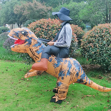 Halloween Tyrannosaurus Riding Dinosaur Inflatable Clothing Funny Animal Mounts Daily Funny Inflatable Clothing pikaalafan giant inflatable toys halloween easter funny doll inflatable props terror ghost hug people inflatable clothes cosplay