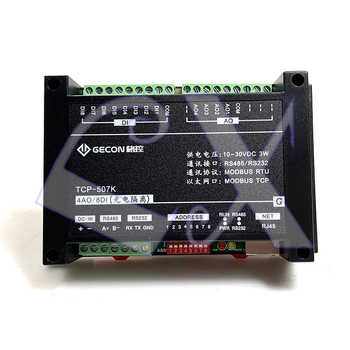 8DI 4AO analog 0-10V 4-20mA output RJ45 Ethernet module Modbus RTU&TCP communication protocol RS485 RS232 - DISCOUNT ITEM  8 OFF Lights & Lighting